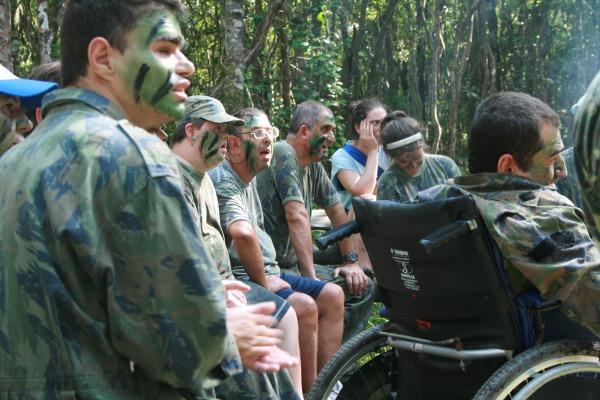 Durante dez dias, portadores de necessidades especiais desenvolvem atividades lúdicas
