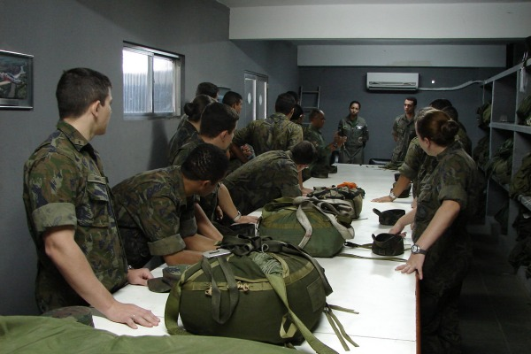A atividade permite o lançamento de cargas em uma situação real de conflito