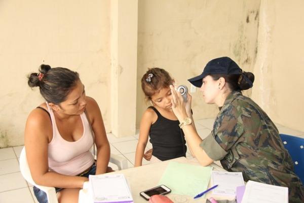 A população pôde fazer consultas em seis áreas médicas