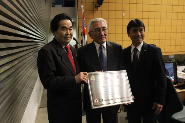 A sessão solene relembrou a trajetória dos imigrantes japoneses no Brasil