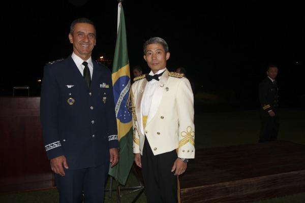 Três oficiais brasileiros foram condecorados no evento realizado na embaixada japonesa em Brasília