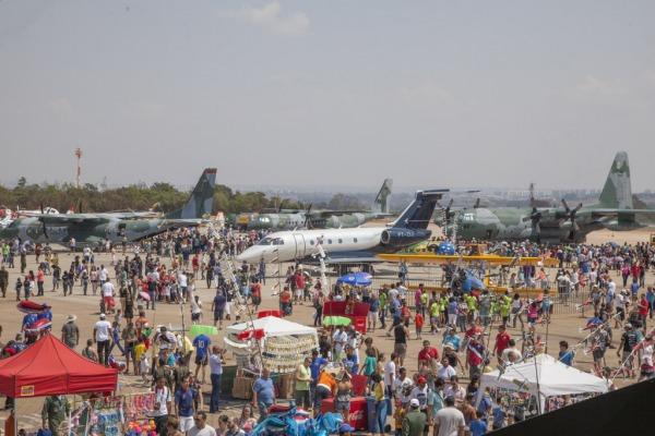 Um dos destaques do evento foi a exposição da maquete do Gripen NG, nova aeronave de caça da FAB