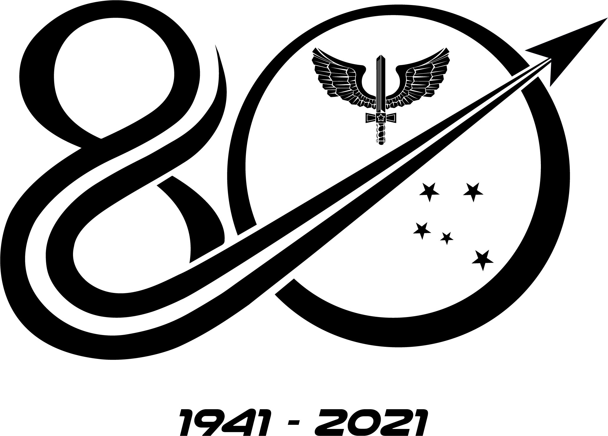 Símbolo Comemorativo Preto e Branco