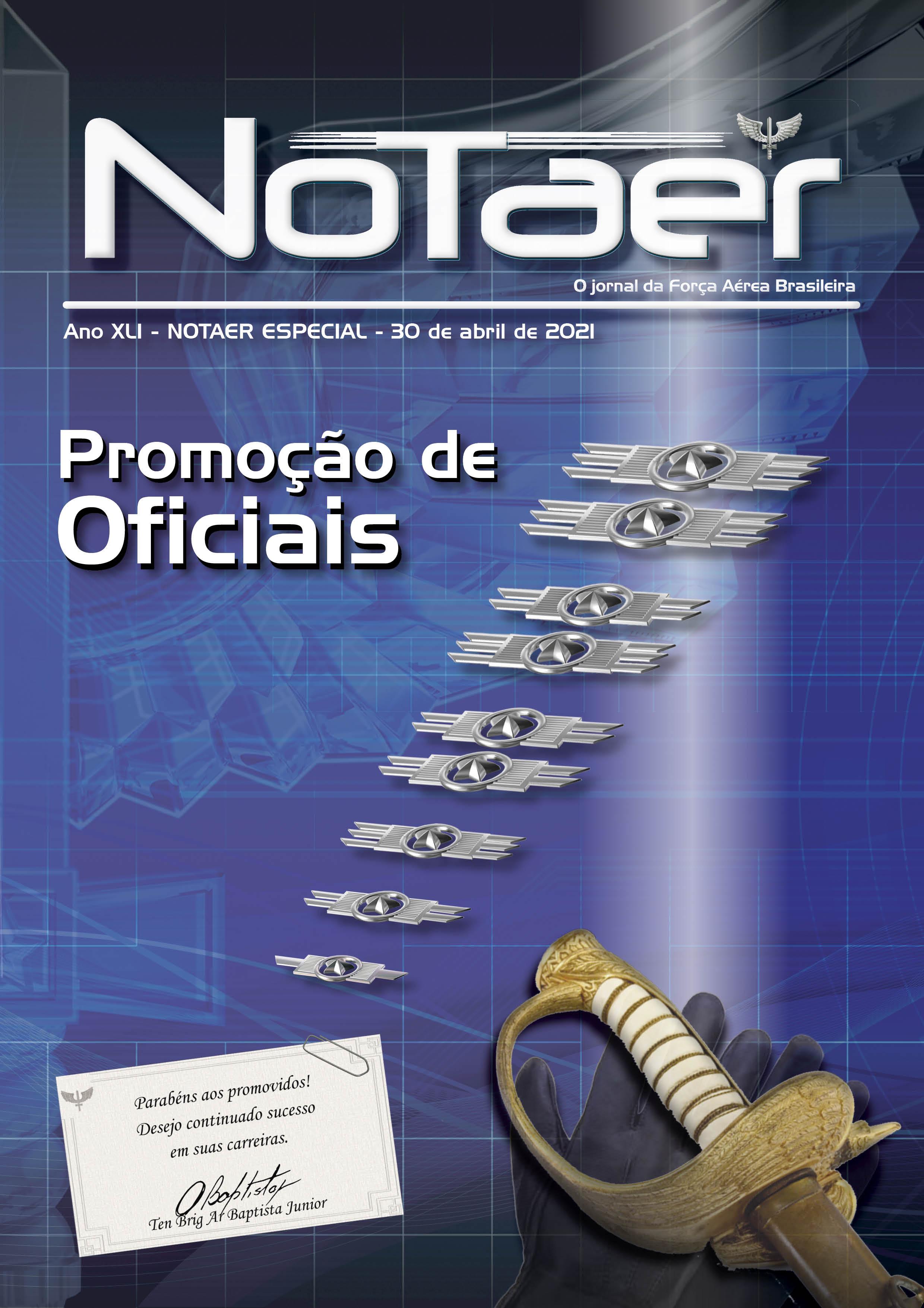 NOTAER - Especial promoção de Oficiais - 30 de abril de 2021