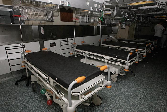O hospital conta com 500 m², 49 leitos, sendo 23 de UTI, dois de isolamento e 24 para leitos de extensão, com capacidade total para 100 pacientes por dia