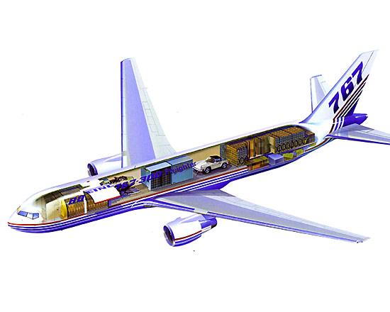 Organização de carga em um 767