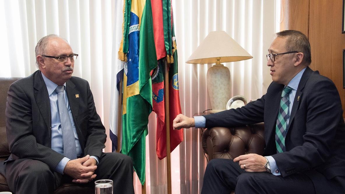 Ministro José Coêlho Ferreira (à esq.) é o novo presidente do STM