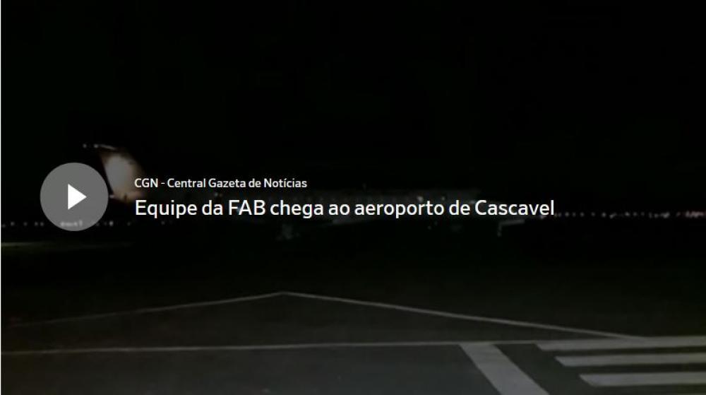 3c838599c999 Na noite desta terça-feira (26), um avião da FAB (Força Aérea Brasileira)  chegou a Cascavel em voo proveniente do Rio de Janeiro (RJ).