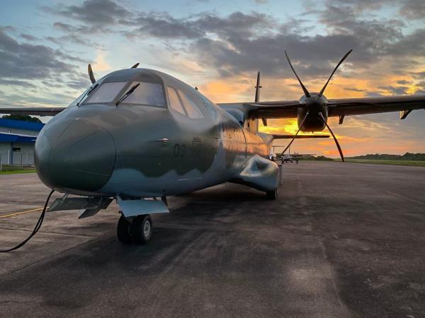 Aeronave C-105 do Esquadrão Arara transportou 1.886 quilos de equipamentos e suprimentos para combate ao novo Coronavírus