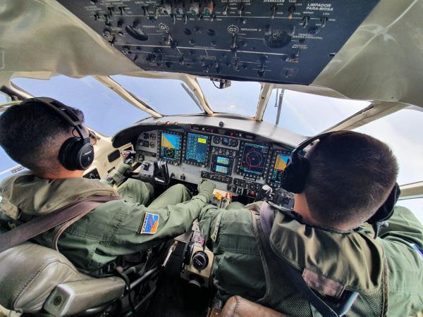 Os 42 Aspirantes a Oficial Aviadores iniciaram a atividade após conclusão do Curso de Instruções Técnicas da aeronave C-95M