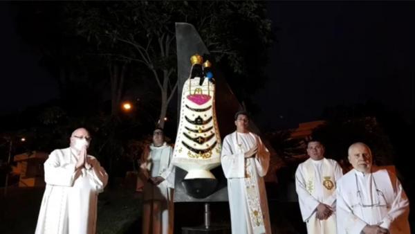 Estátua em homenagem à Nossa Senhora de Loreto foi apresentada