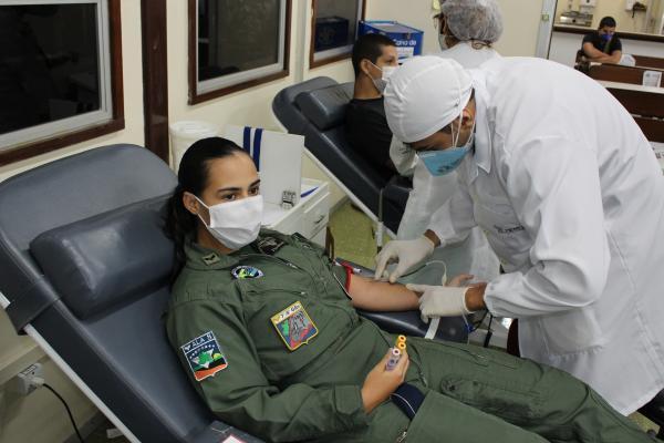 Unidadeda FAB localizada em Manaus (AM) realiza ato de doação de sangue e de distribuição de kits de alimentação