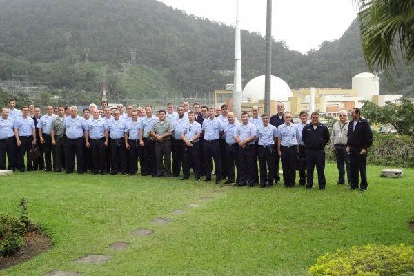 Comitiva do CPEA na usina nuclear  Coronel Eloir / ECEMAR