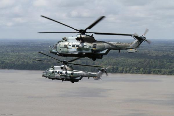 Helicópteros H-36 na Amazônia  Esquadrão Falcão