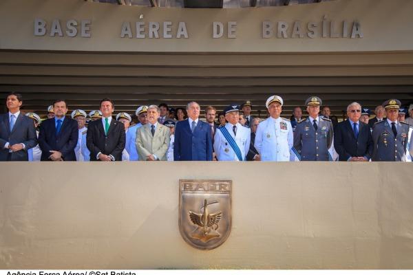 A solinidade contou com a presença de Celso Amorim e Michel Temer  Sargento Batista/Agência Força Aérea
