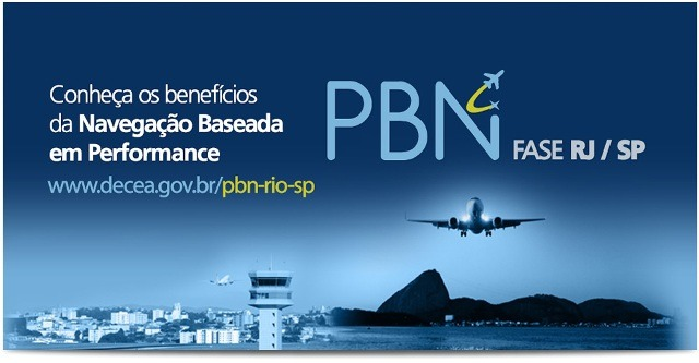 PBN RJ/SP ganha site especial do DECEA  Divulgação/DECEA