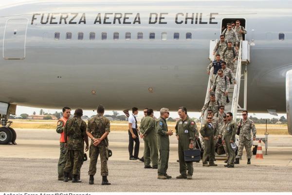 Chegada da delegação chilena na Base Aérea de Natal  Agência Força Aérea/Sgt Rezende