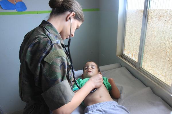 Uma das maiores demandas foi o atendimento pediátrico  Soldado Patrick / VI COMAR