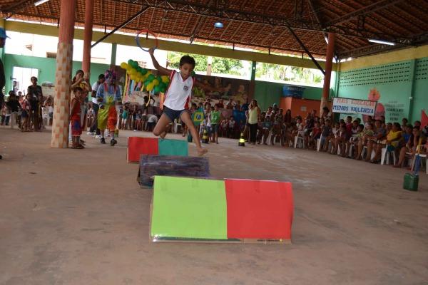 As crianças também tiveram uma programação especial com atividades recreativas e  Soldado P.Feitosa/I COMAR