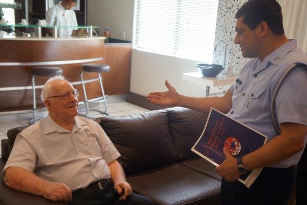 O Major Buyers, de 93 anos, foi piloto do 1º Grupo de Aviação de Caça  Soldado R Silva/II COMAR