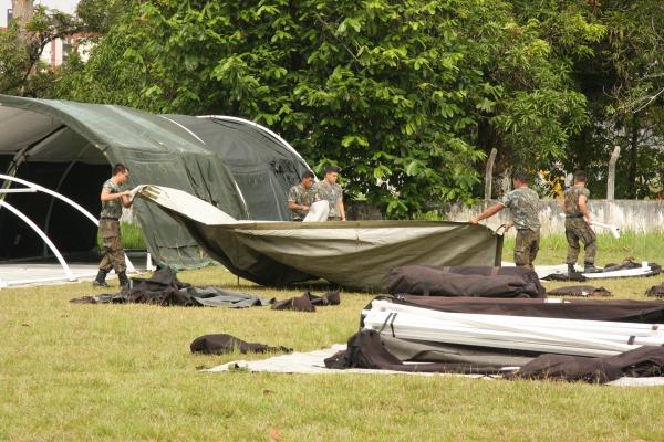 A operação treina os militares nas técnicas da Engenharia de Campanha   Sandy Leal/COMARA