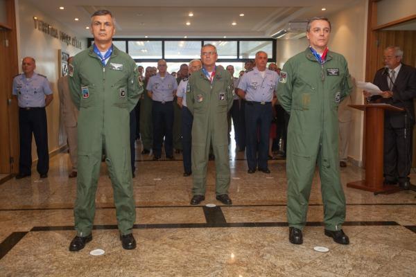 Brigadeiros Aguiar, Rossato e Jordão  Cb Vinícius Santos / Agência Força Aérea