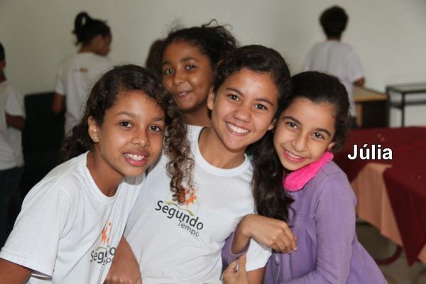 Ana Clara durante o Projeto Cajuzinho  1S BFT Pessanha
