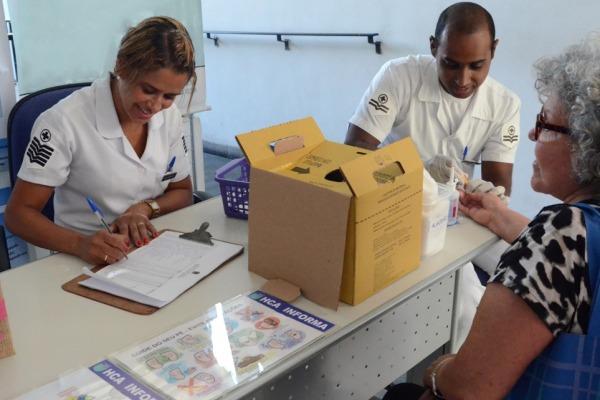Em apenas um dia, o hospital atendeu cerca de 170 usuários. 14% apresentaram glicemia alta