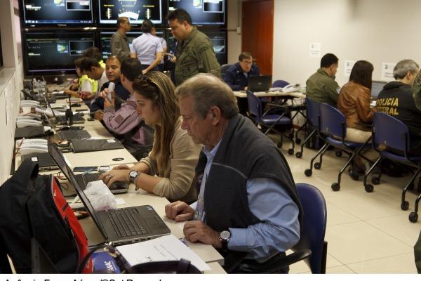 Sala master de comando e controle reúne diversos órgãos governamentais  Arquivo Agência Força Aérea/Sgt Paulo Rezende