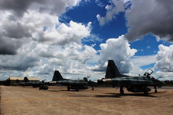 Entre os dias 17 de março e 04 de abril, acontece o treinamento em conjunto de várias unidades aéreas da Força Aérea