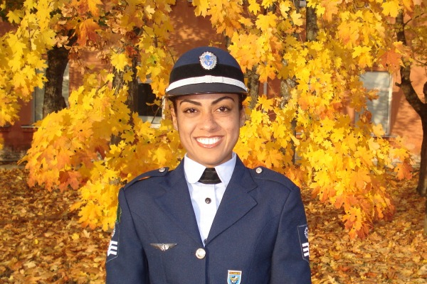 Sargento Soraya no Mundial Militar na Lituâniam, em 2008  Arquivo Soraya Gonçalves Cabral