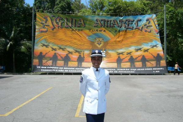 Soraya na formatura da Escola de Especialistas  Arquivo Soraya Gonçalves Cabral