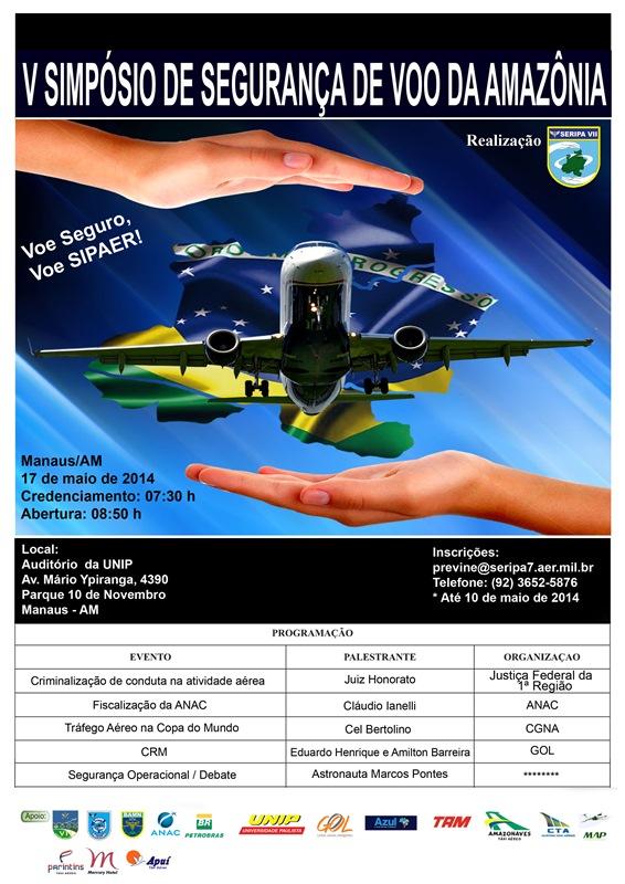 SERIPA VII promove evento em Manaus no próximo dia 17 de maio direcionado à profissionais da área e o público em geral. Astronauta Marcos Pontes encerra o evento