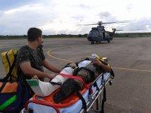 Militar sofreu duas fraturas em acidente de motocicleta próximo às instalações do centro e seguiu para São Luís