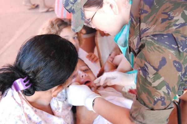 Cerca de 150 pessoas foram beneficiadas com atendimento odontológico preventivo e curativo