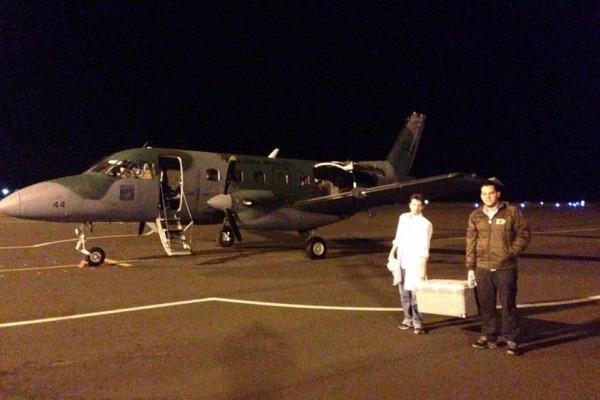 A chegada ao destino.  2T Bastiani