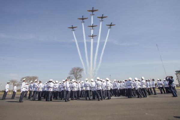 Passagem da  Esquadrilha da Fumaça  Cabo V. Santos/Agência Força Aérea