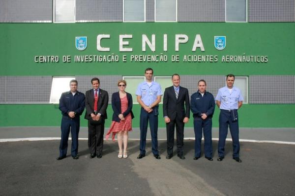 FAA confere no CENIPA a estrutura da prevenção  Sgt Flávio Santos / CENIPA