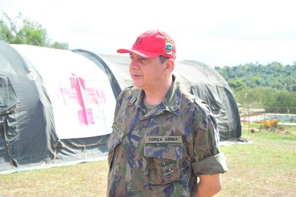 Experiências reais da saúde operacional foram explanadas pelo Major Rodolfo  EEAR/Sgt Diniz