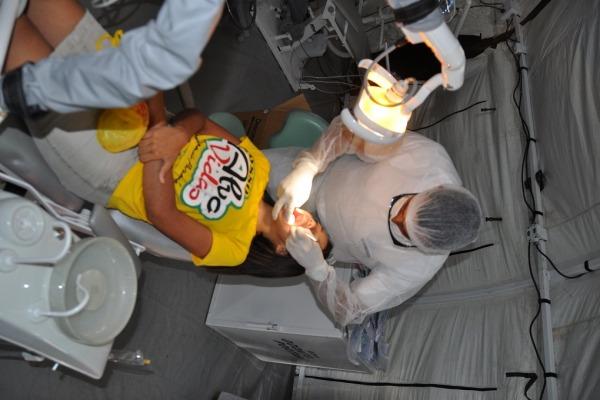 Mais de 100 atendimentos odontológicos foram realizados  Soldado Neto / BARF