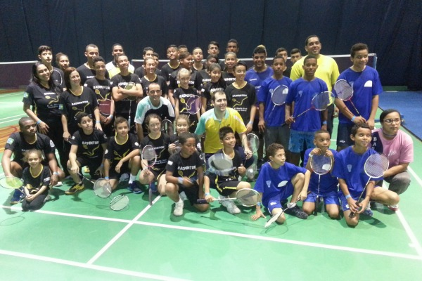 Atividade foi realizada durante GP Brasil de Badminton, no Rio de Janeiro