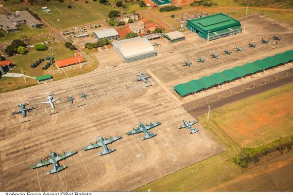 Base Aérea com as aeronaves do exercício  Sgt Bruno Batista / Agência Força Aérea