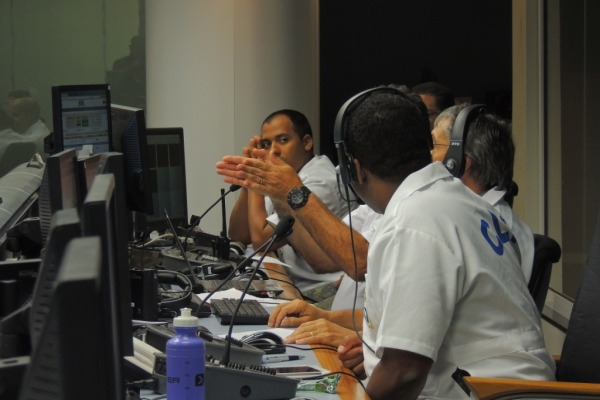 Equipe Operação Águia II no Centro de Controle  Soldado P. Sousa/ CLA