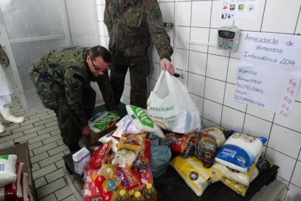 Produtos foram arrecadados entre militares durante torneio para celebrar o Dia da Intendência