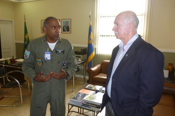 Major-Brigadeiro Scheer e Coronel Macedo  INCAER
