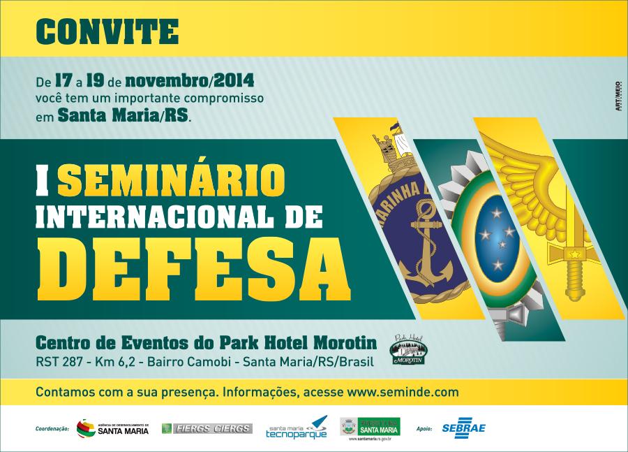 Evento será realizado de 17 a 19 de novembro em Santa Maria (RS)