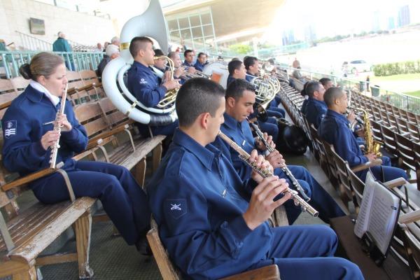 Banda da BABR se apresenta durante o evento  Soldado Rocha/IV COMAR