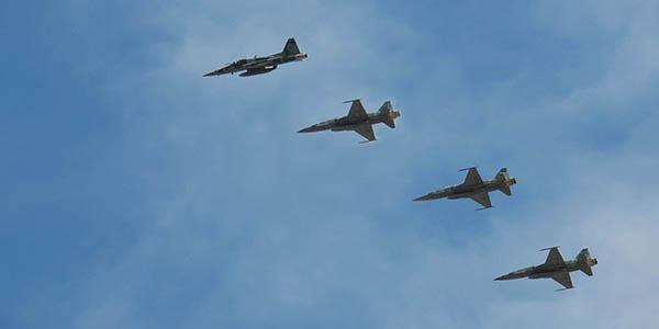 Caças da FAB sobre Antofagasta  Fuerza Aérea de Chile