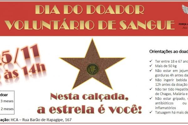 A ação será no dia 25 de novembro no Rio de Janeiro