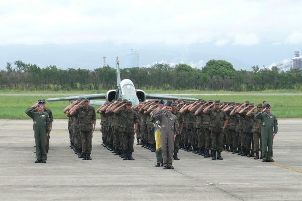 Esquadrão Adelphi durante a solenidade  2S Leonardo
